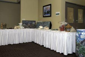Corner Auction Table