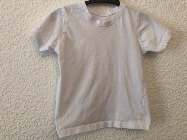 White PE T-Shirt (size 5-6 years)