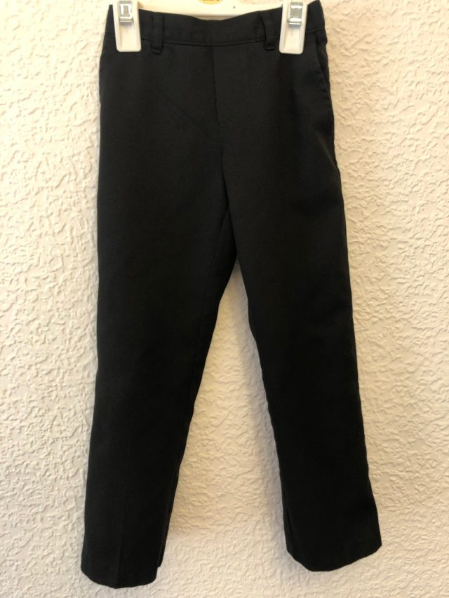 Black School Trousers (size 5-6 years)
