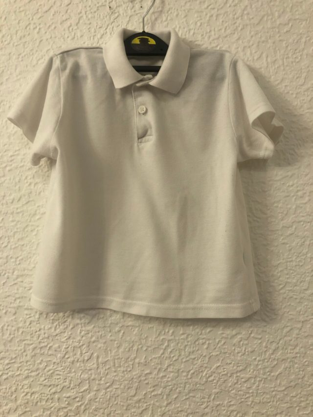 White Polo Shirt (size 3-4 years)