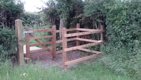 The new kissing gate to Jacob's Lane