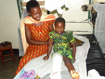 Thungu Joy: In pain and Miserable yesterday when she broke her leg - comfortable, happy and Joyful today in her plaster cast!