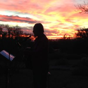 Jim Potacki and sunset