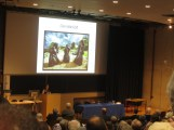 Clare Downham addresses the delegates