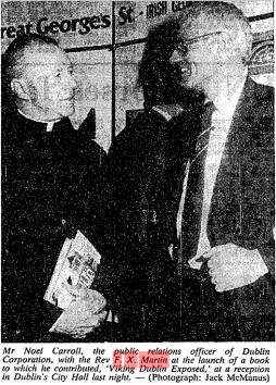 Book Launch for Viking Dublin exposed Irish Times 5 December 1984