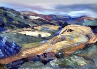 Towards Merthyr 1963 Oil on Canvas