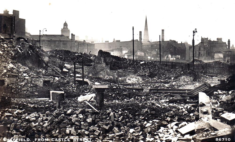 Castle street during the Blitz