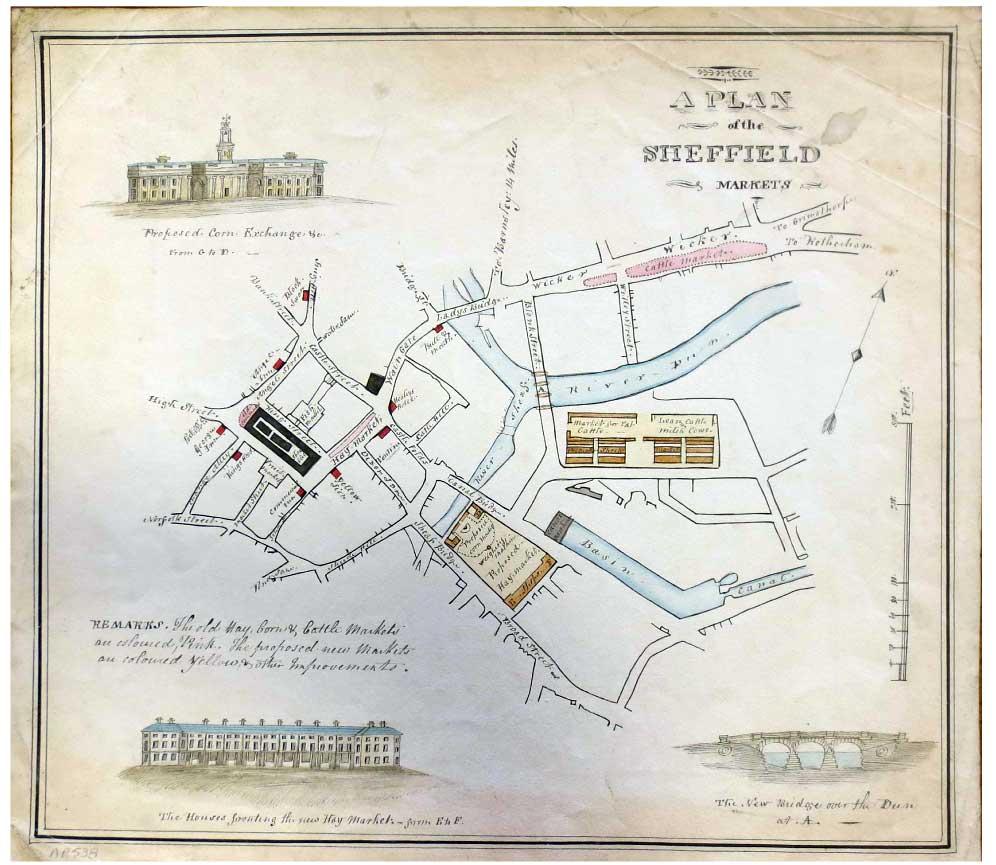 Sheffield Market plan 1827