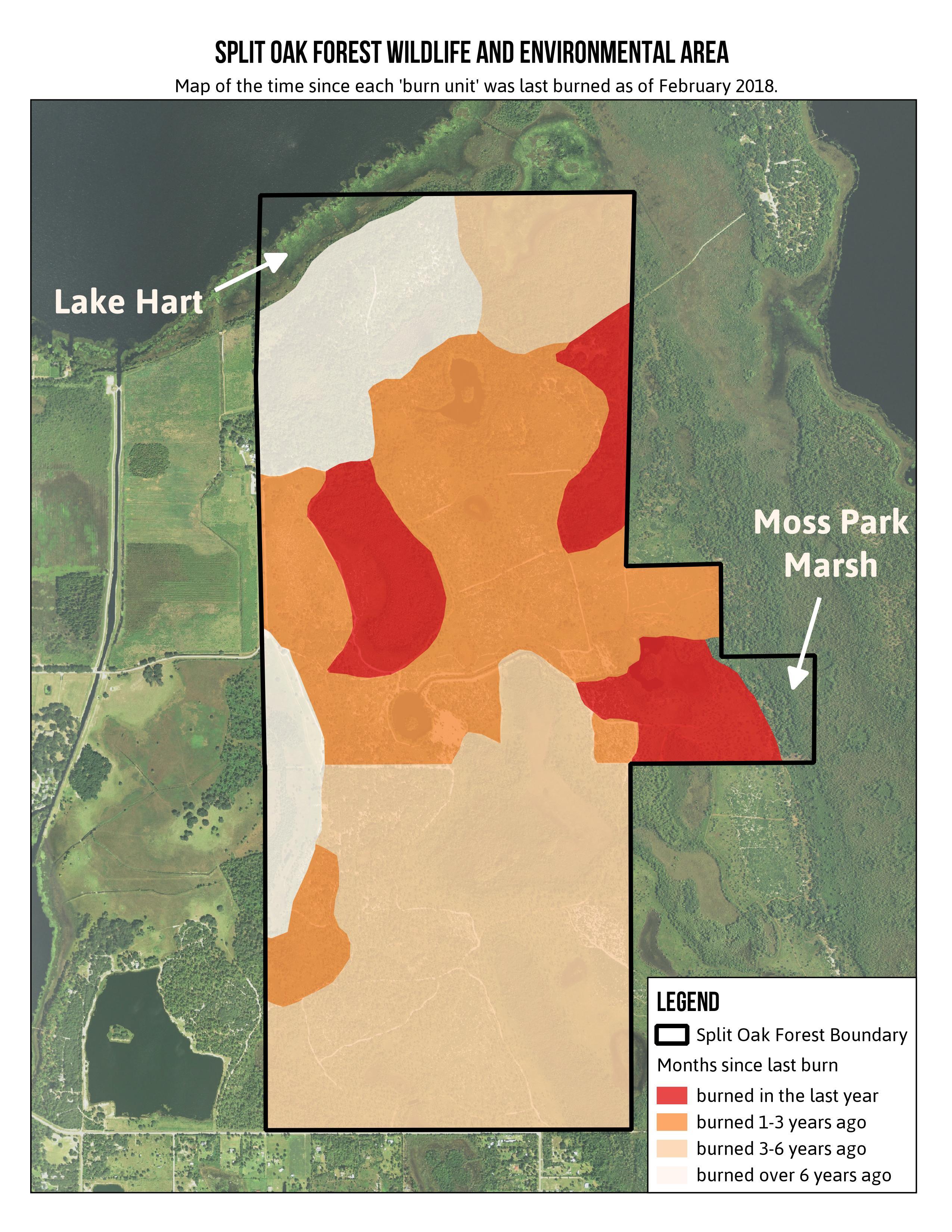 Florida Fire Map 2017.Controlled Burns Friends Of Split Oak Forest