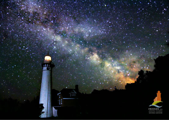 Outer Island Lighthouse and Milky Way-Apostle Islands Photo of the Year 2009