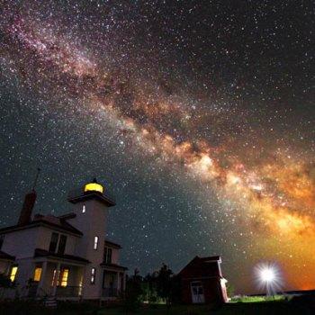Raspberry Island Lighthouse with Milky Way-Apostle Islands Print of the Year 2011