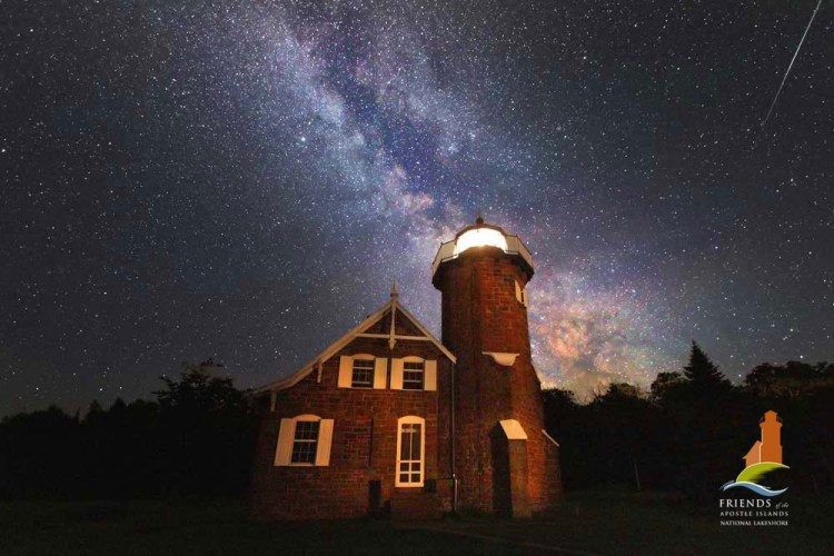 Sand Island Lighthouse with Milky Way-Apostle Islands Print of the Year 2010