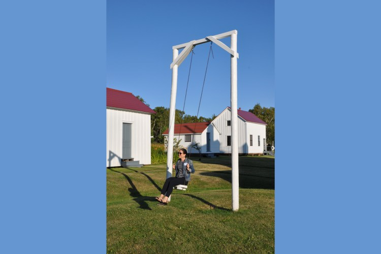 Swinging in the late afternoon sun