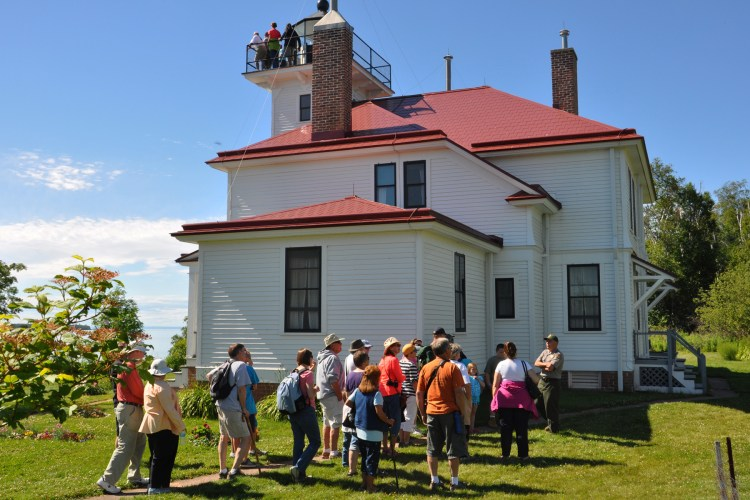 Learning the history of the Raspberry Island lighthouse keepers