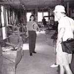 Merrith leading a tour of the twine shed at the Hokenson Fishery