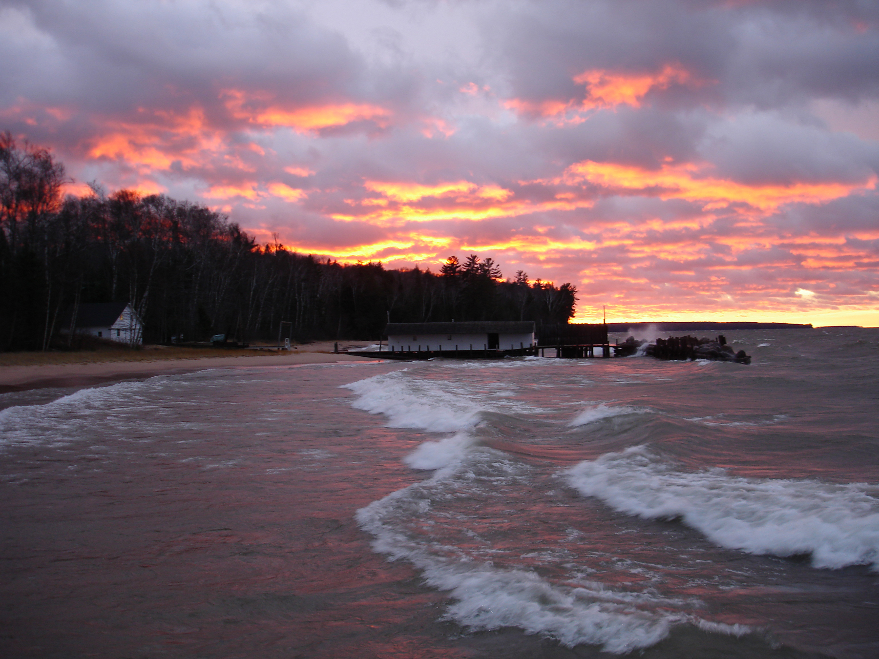 Sunset Little Sand Bay