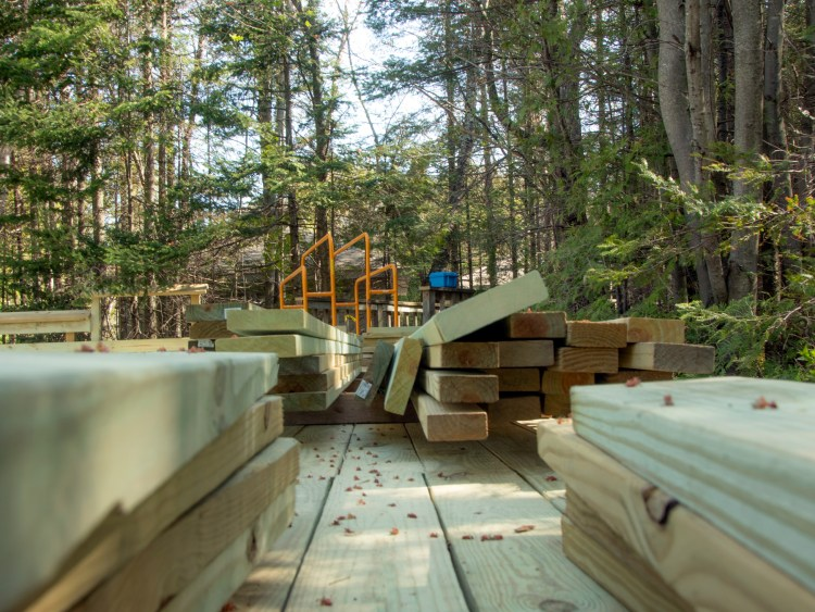Lumber waiting to be installed