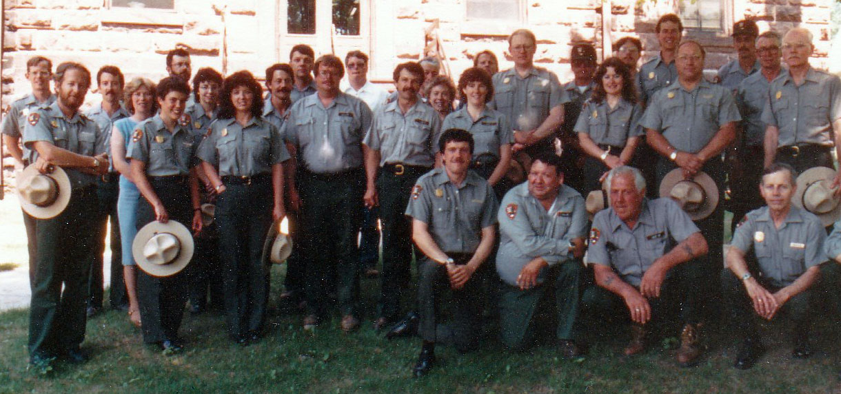 A staff photo from 1988, Jerry's first full year in the park