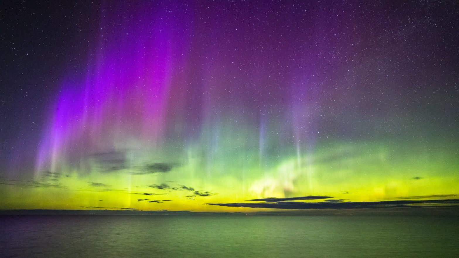 Northern Lights over the Apostle Islands - Jon Okerstrom photo