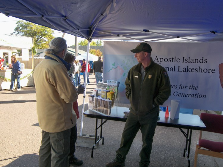 Dan working at the park's Apple Fest booth