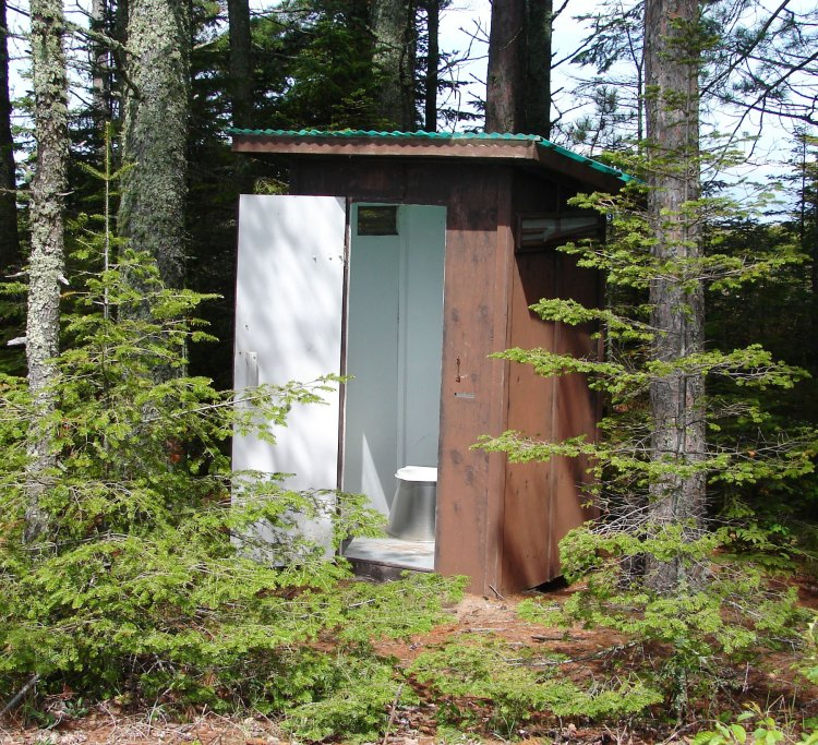 The old outhouse on the Outer Island sandspit
