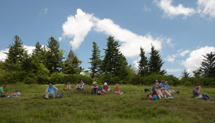 picnic at Andrews Bald - photo by Linda Spangler