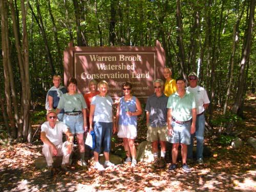 Group photo of Warren Brook Hikers in Upton 2010