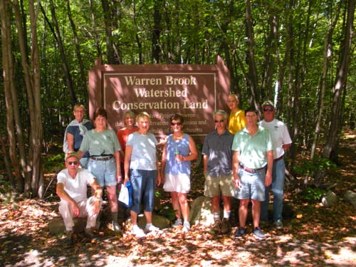 Group photo of Warren Brook Hikers in Upton 2010