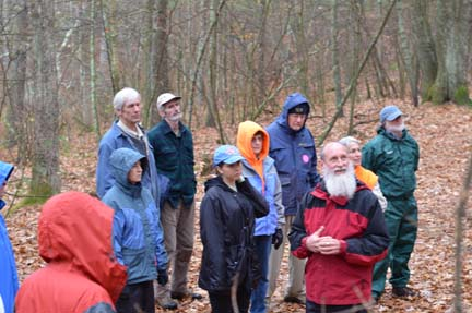 The group hiking with Tom Wessels