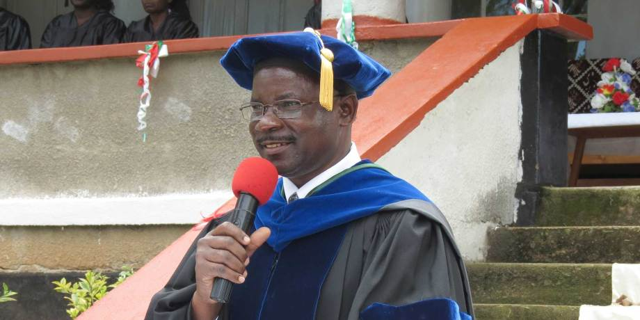 Robert Wafula at Graduation