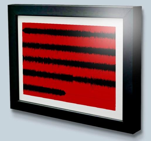 Multi Line Sound wave art print