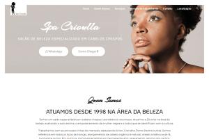 site spa crioulla para cabeleireiros