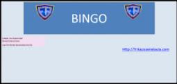 Bingos educación física