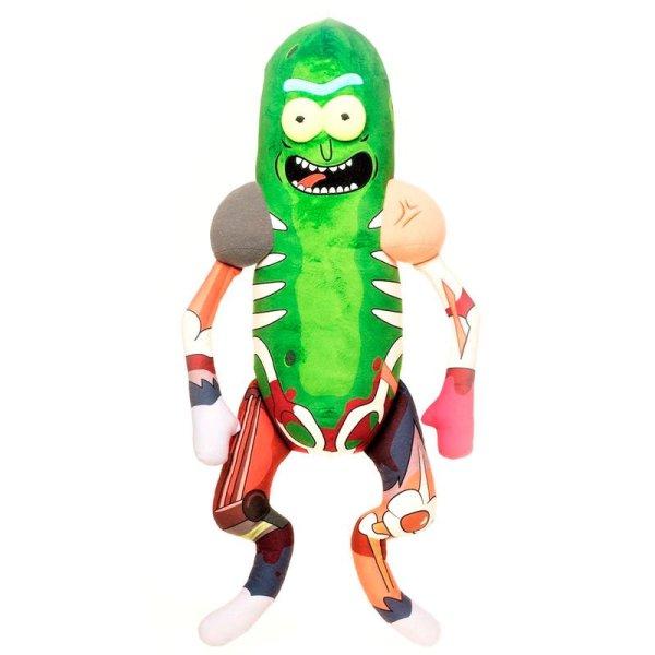 Peluche Rick & Morty Pickle Rick in Rat Suit 45cm
