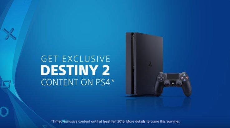 Destiny 2 será exclusiva temporal para PlayStation 4