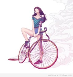 Pin-Ups-and-Bicycles-illustrations-by-Halfanese-14