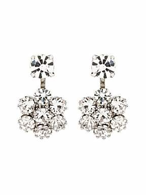 Martine Wester Small flower crystal earrings - £30