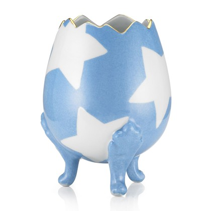 Gift Library Marie Daage Brocken egg in pink and Blue - £85