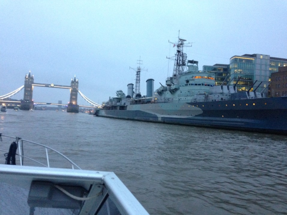 Feeling the awesome scale of HMS Belfast. Spectacular.