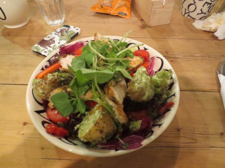 The food is so fantastic and amazing value. This huge chicken salad was £6.95 and I couldn't finish it!