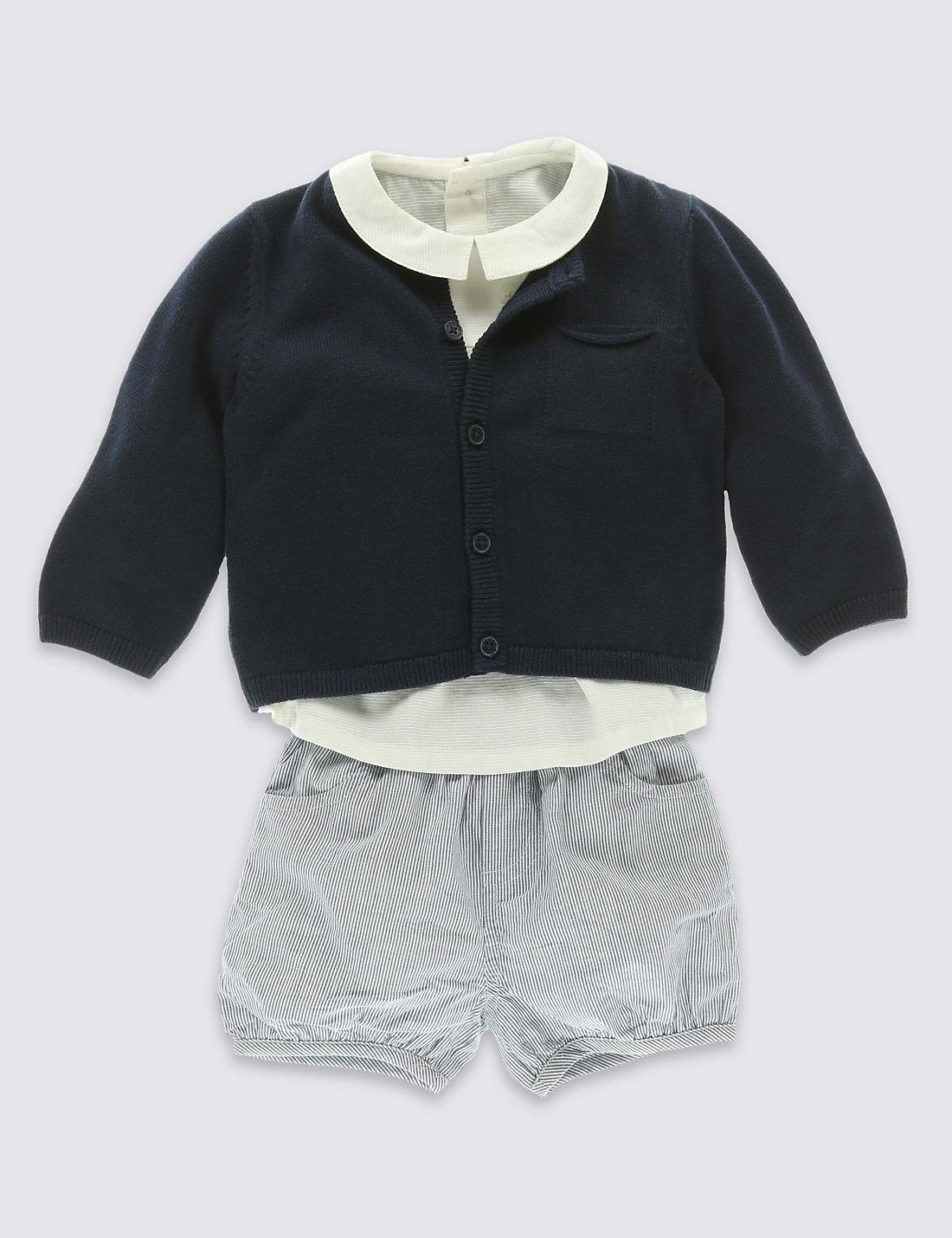 M&S shirt and shorts set