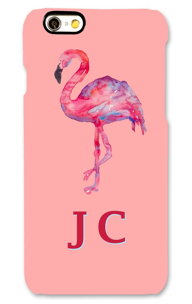 Willow of London personalised phonecase Gloss_Pink_Painted_Flamingo