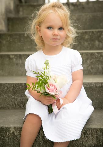 Amelia Brennan cotton flower girl dress