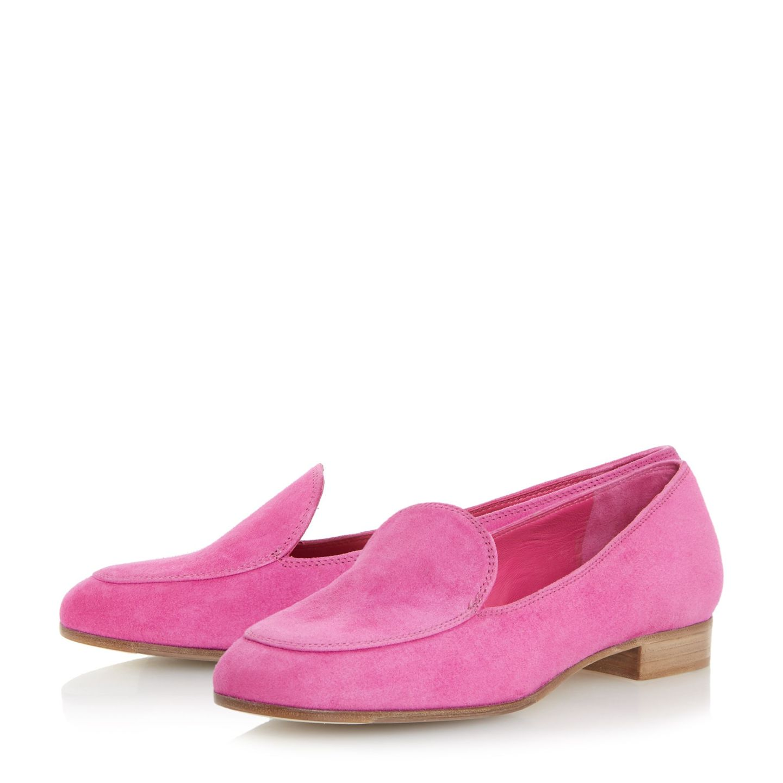 Dune black granite pink slip on loafers