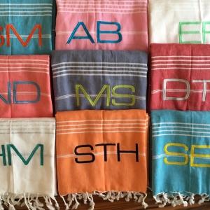 Initially London personalised towel