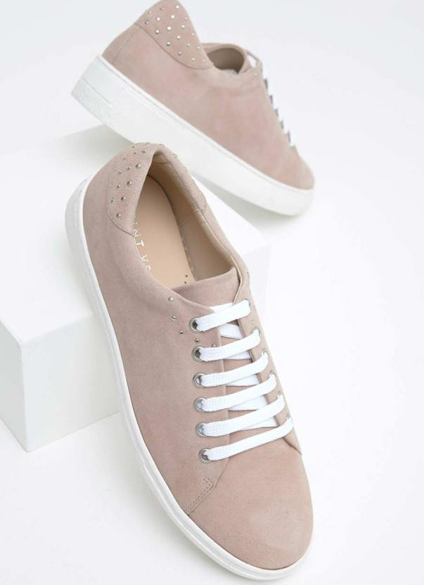 Mint Velvet suede blush trainers