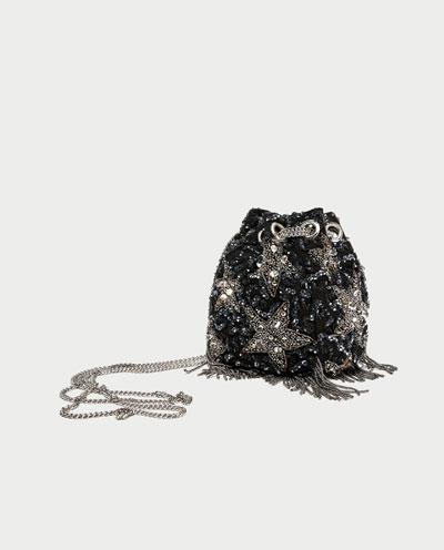 Zara stars beaded crossbody bag 2