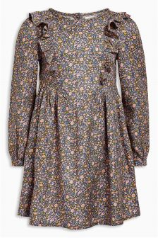 Next grey ditsy floral long sleeve dress
