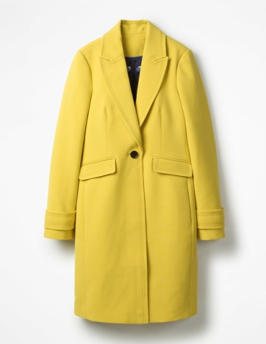Boden yellow coat