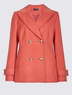 M&S cinnamon blush peacoat